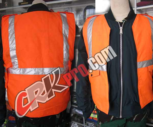 rompi orange vest safety